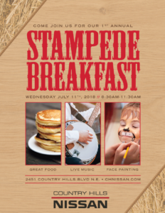 Country Hills Nissan Stampede Breakfast 2018