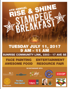 Rise and Shine Stampede Breakfast 2018