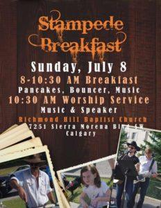 Stampede Breakfast & Outdoor Worship Service