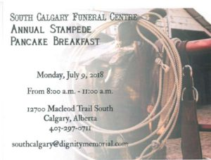 South Calgary Funeral Centre Annual Stampede 2018