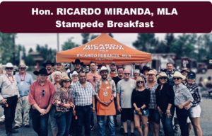 Hon. Ricardo Miranda, MLA for Calgary-Cross 2018