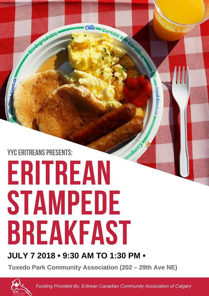 YYC Eriteans Stampede Breakfast 2018