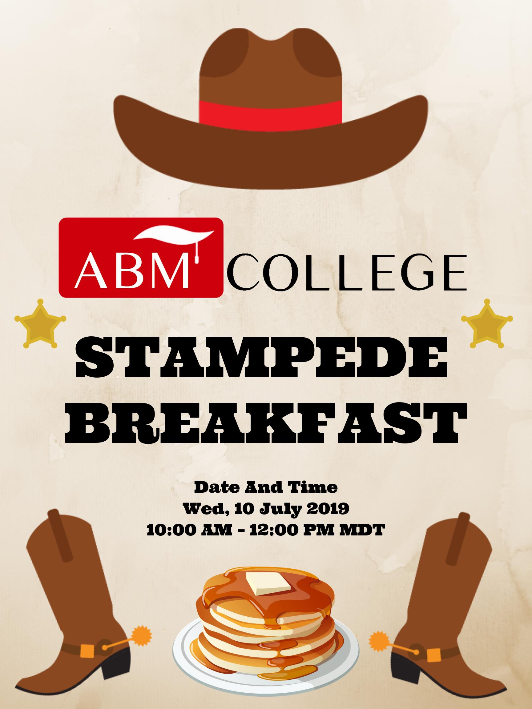 ab36179dc13 ABM College Stampede Breakfast | Stampede Breakfast 2019